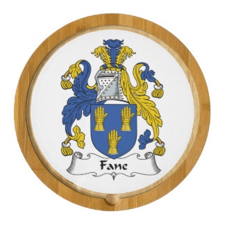 Fane Family Crest Round Cheese Board