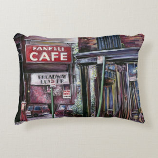 Fanelli's Charm, New York City, Soho, New York Accent Pillow