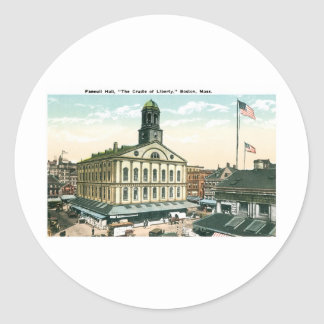 Faneuil Hall Boston Mass Round Stickers
