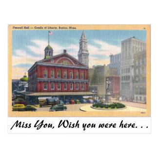 Faneuil Hall, Boston, Massachusetts Postcard