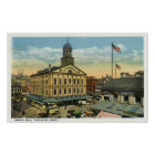 Faneuil Hall View, the Cradle of Liberty Poster