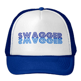 Fanfarronería en azul gorras