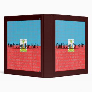Fanfiction For Haiti 3 Ring Binder