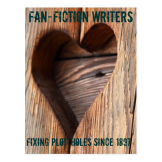 Fanfiction Writers: Fixing Plot-holes Since 1897 Postcard