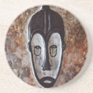 Fang African Tribal Masks_Art Decor Drink Coasters