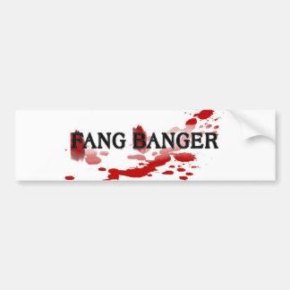Fang Banger Bumper Sticker
