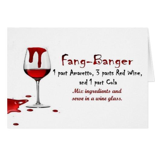 Fang-Banger Drink Recipe Greeting Card