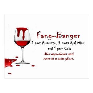 Fang-Banger Drink Recipe Postcard