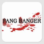 Fang Banger Square Sticker