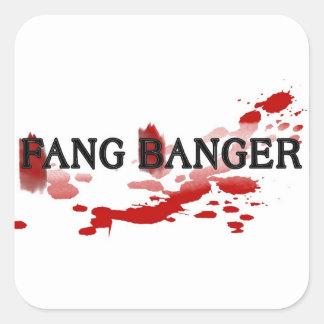 Fang Banger Square Sticker