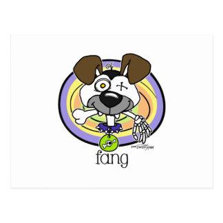 Fang Bite me - Halloween card Postcard