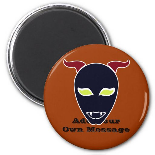 Fang Demon 2 Inch Round Magnet