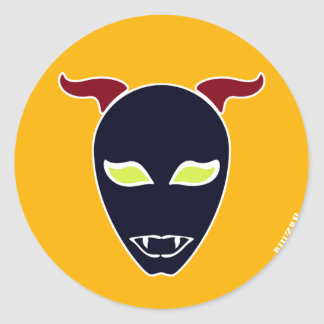 Fang Demon Classic Round Sticker