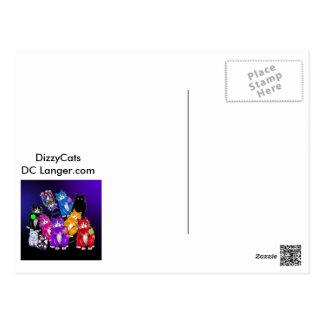 Fang DizzyCat postcard. Postcard