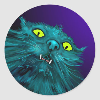 Fang DizzyCat stickers. Classic Round Sticker