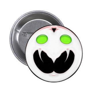 Fang Face Smiley Button