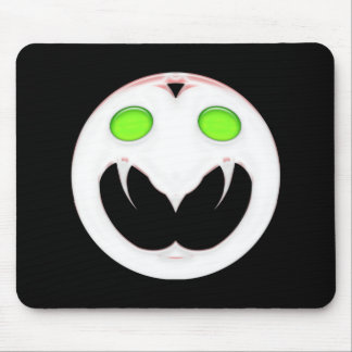 Fang Face Smiley Mouse Pad