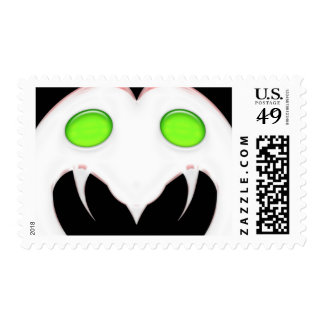 Fang Face Smiley Postage