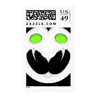 Fang Face Smiley Stamp