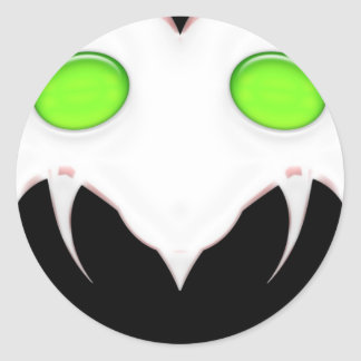 Fang Face Smiley Stickers