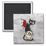 fang kitty 2 inch square magnet