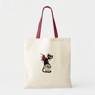 fang kitty canvas bags
