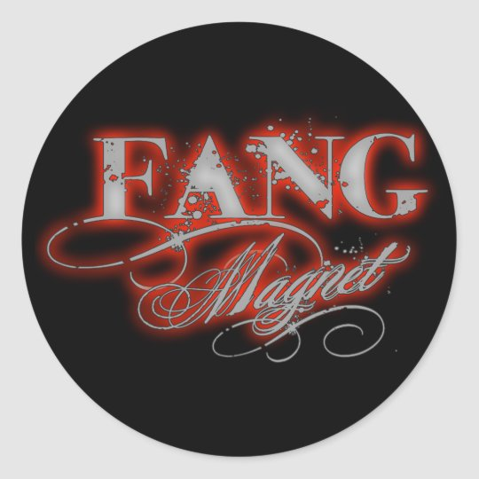 Fang Magnet Classic Round Sticker