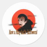 Fang-Tastic Halloween Round Sticker