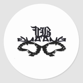 fangbang classic round sticker