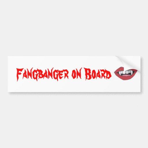 Fangbanger a bordo pegatina para auto