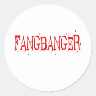 FANGBANGER CLASSIC ROUND STICKER