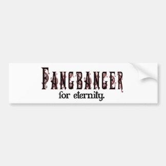 fangbanger para la eternidad etiqueta de parachoque