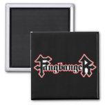 Fangbanger Vampire Halloween 2 Inch Square Magnet