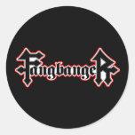 Fangbanger Vampire Halloween Round Stickers