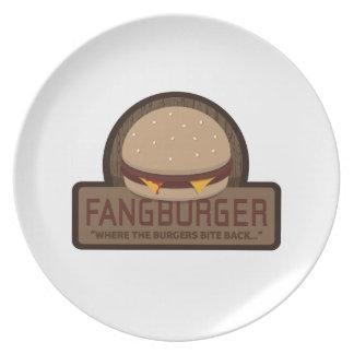 Fangburger Restaurant Plate