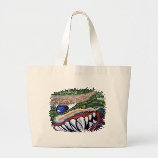 Fanged Cyclops Large Tote Bag
