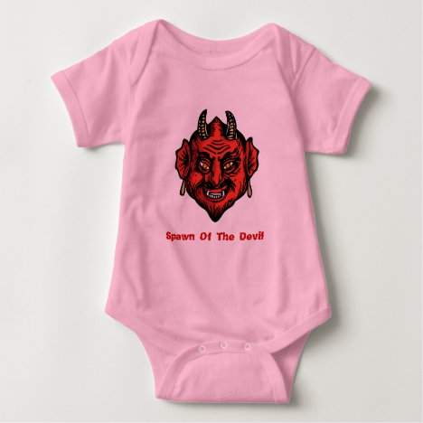 Fanged Horned Red Devil Baby Bodysuit
