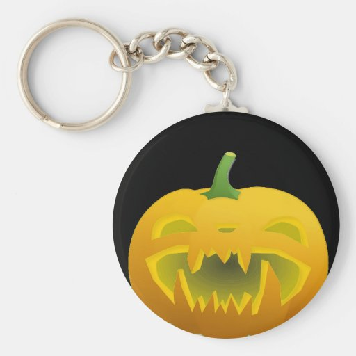Fanged Jack O Lantern Keychain