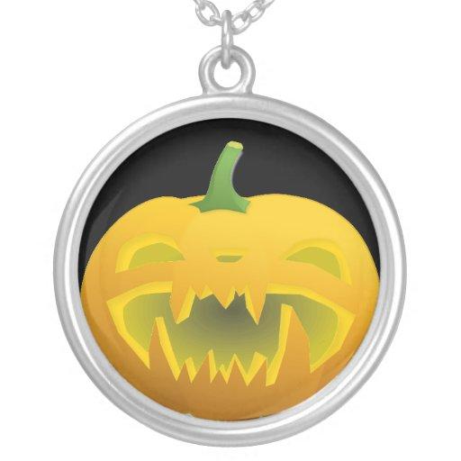 Fanged Jack O Lantern Necklace