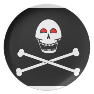 Fanged Jolly Roger Flag Party Plates