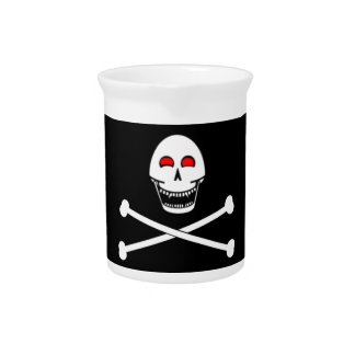 Fanged Jolly Roger Flag Pitcher