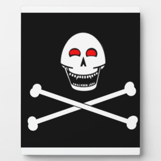 Fanged Jolly Roger Flag Plaque