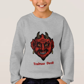 Fanged Red Devil With Horns Sweatshirt