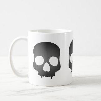 Fanged skull in gray classic white coffee mug