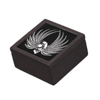 Fanged Skull with Wings Keepsake Box
