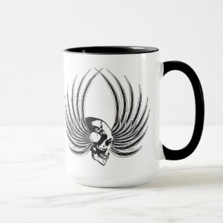 Fanged Skull with Wings Mug