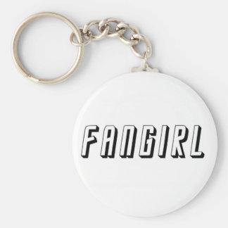 Fangirl Basic Round Button Keychain