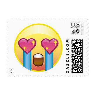 Fangirl Crazy Heart Eyes Sparkle Emoji Postage