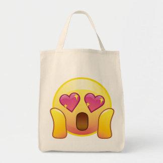 Fangirl Crazy Heart Eyes Sparkle Emoji Tote