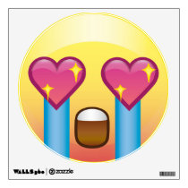 Fangirl Excited Crying Love Happy Emoji Wall Decal